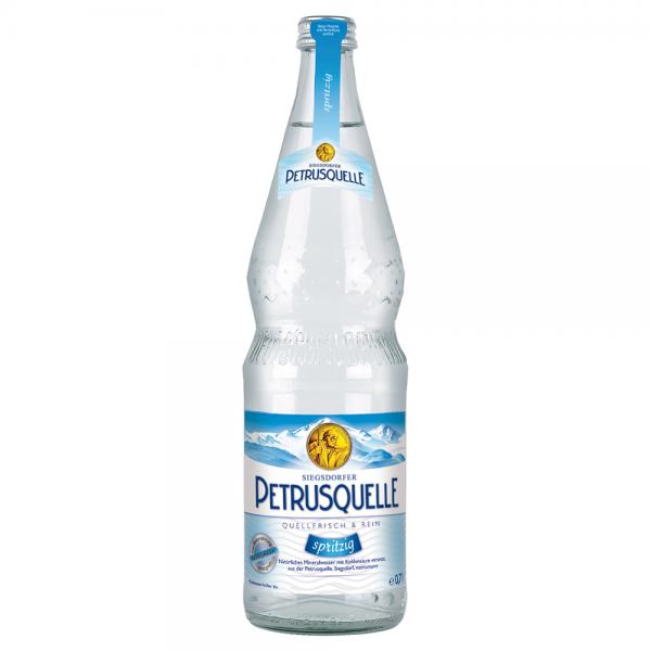 Siegsdorfer Petrusquelle Mineralwasser Spritzig 12x0,7 l