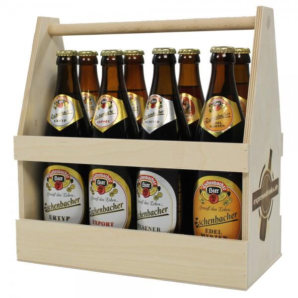Eschenbacher Probierkiste im Holzträger 8x0,5l