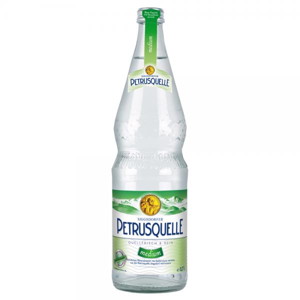 Siegsdorfer Petrusquelle Mineralwasser Medium 12x0,7 l