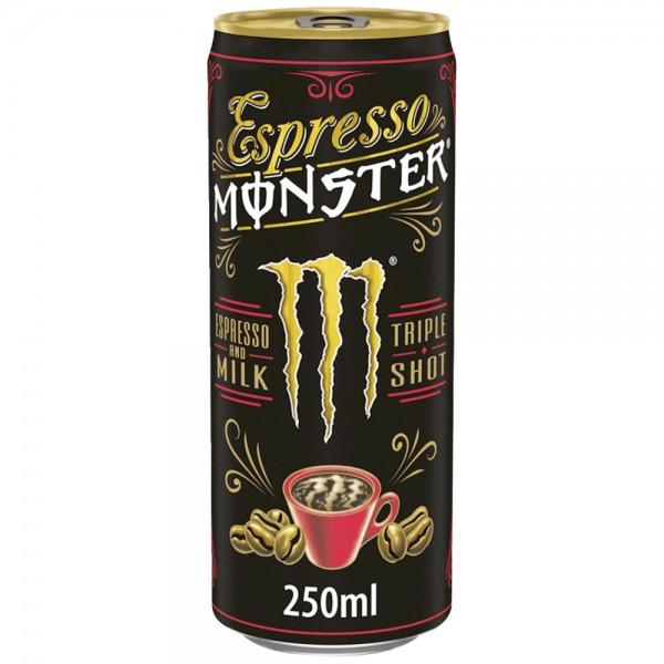 Monster Espresso mit Milch 12x0,25l - MHD 31.07.2021