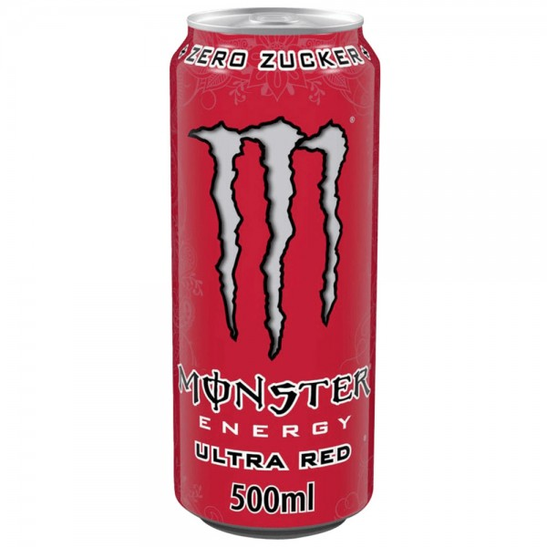 Monster Energy Ultra Red 24x0,5l - MHD 30.06.2021