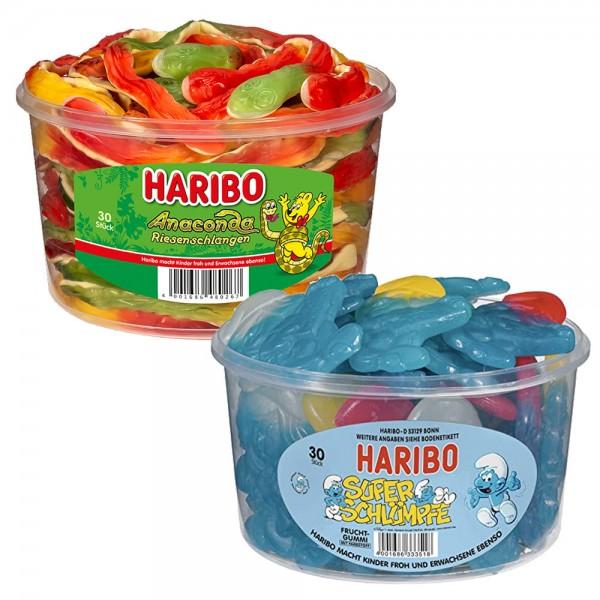 Haribo 30 Stück Dose verschiedene Sorten