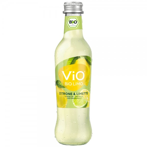 Vio Bio Limo Zitrone & Limette 24x0,3l - MHD 30.06.2021