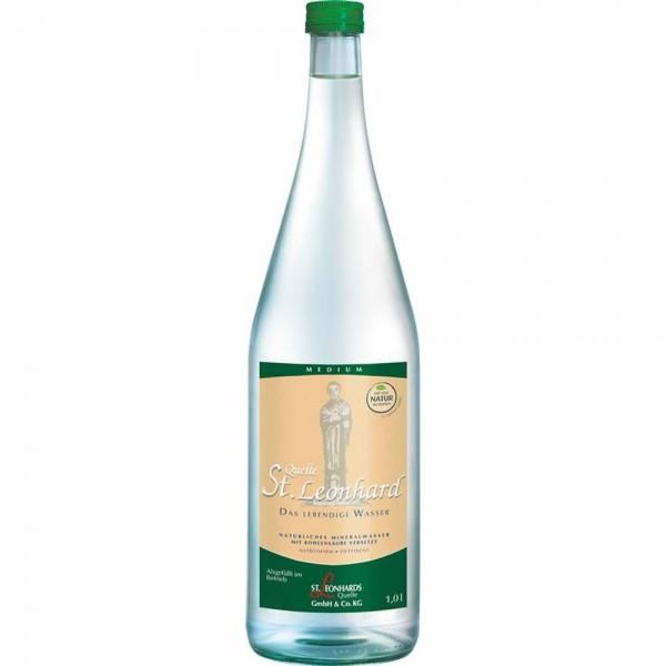 St. Leonhard Mineralwasser Medium 6x1,0l