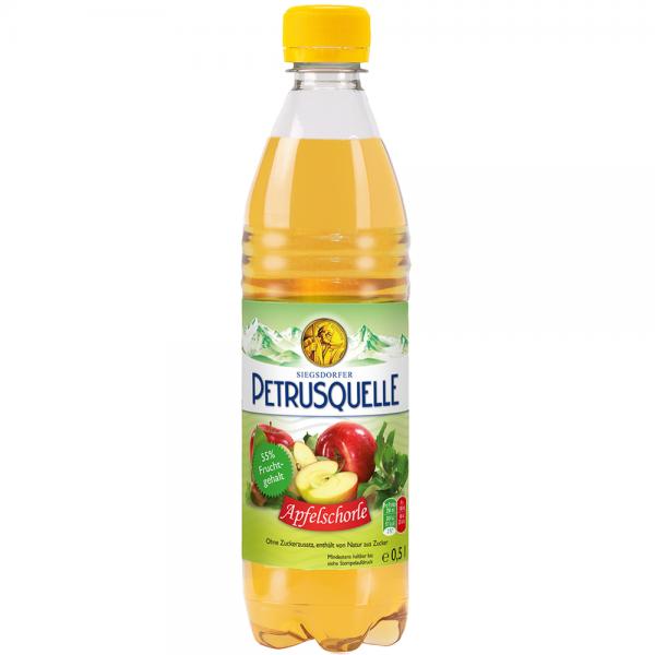 Siegsdorfer Petrusquelle Apfelschorle PET 12x0,5l