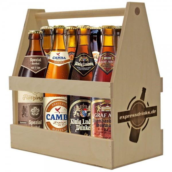 Spezial Biere im Holzträger 8x wahllos gemischt