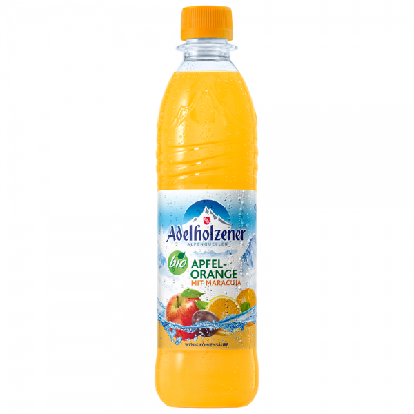 Adelholzener Bio Apfel Orange mit Maracuja 12x0,5l