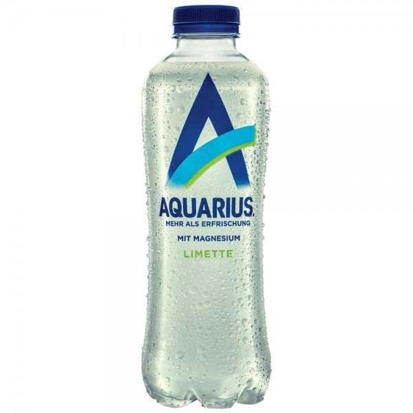 Aquarius Limette mit Magnesium 6x0,9l - MHD 31.05.2021