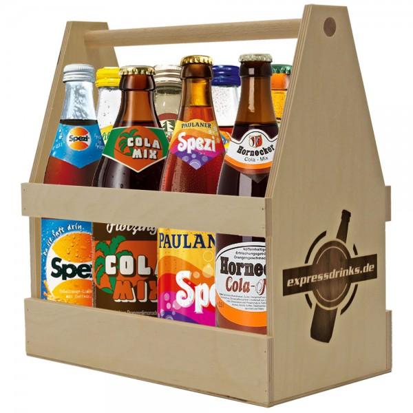 Cola-Mix / Spezi Probierkiste im Holzträger 8x0,5l